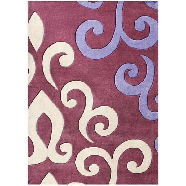 Alliyah Handmade Mouvewood New Zealand Blend Wool Rug - 9 x 12