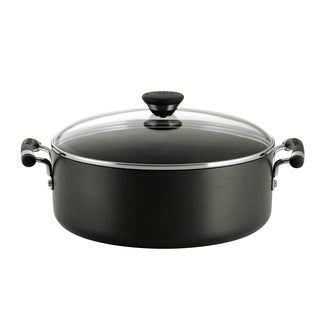 Circulon Acclaim Hard-anodized Nonstick 7 1/2-quart Black Covered Wide Stockpot