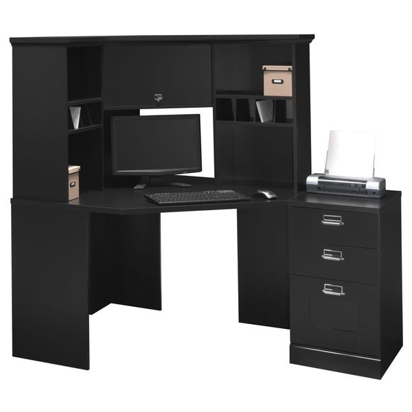 Stockport Corner Desk with Hutch and 3 Drawer File Cabinet - Free Shipping  Today - Overstock.com - 15250939 - Stockport Corner Desk With Hutch And 3 Drawer File Cabinet - Free