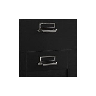 Stockport Corner Desk with Hutch and 3 Drawer File Cabinet in Black