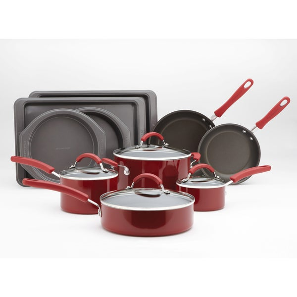 Kitchenaid Red Promotional Aluminum 14 Piece Cookware Set Free Shipping Today 7866214