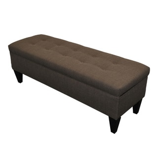 Sole Designs 10-button Tufted Storage Bench