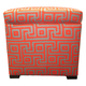 Tami Greece Atomic Storage Ottoman - Thumbnail 4