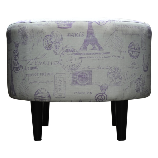Round Sophia French Grape Ottoman