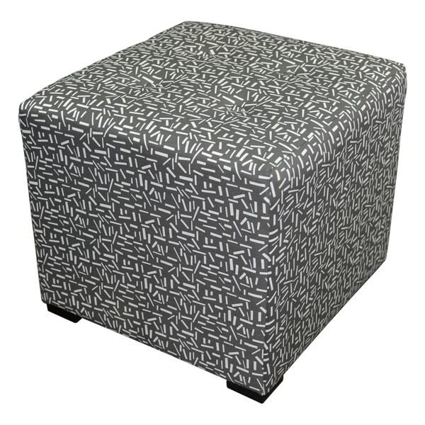 Sole Designs Square 4-button Tufted Ottoman