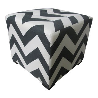 Sole Designs Chevron 4-button Tufted Ottoman