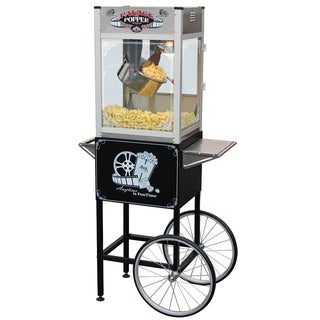 FunTime Palace Popper 16-ounce Hot Oil Popcorn Machine with Cart