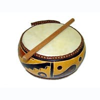 Handmade Double Head 6-inch Gourd Drum (Peru)