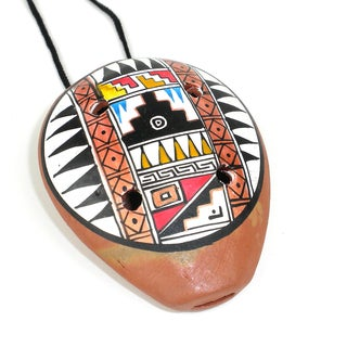 Handmade Traditional Ceramic Ocarina Necklace (Peru)