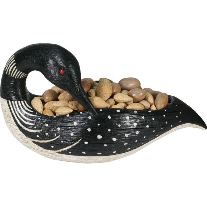 River's Edge Loon Candy Bowl, Black