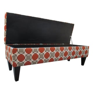 Sole Designs Button Tufted Storage Bench
