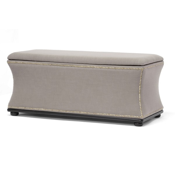 Baxton Studio Liverpool Linen Modern Storage Ottoman And Bench Free Shipping Today 15251051