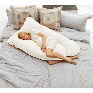 Today's Mom Cozy Comfort Pregnancy Pillow (Option: White)