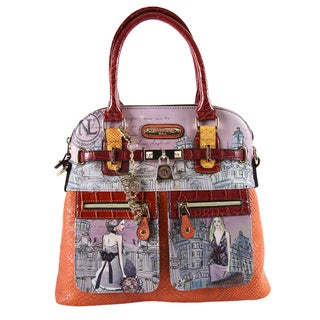 Nicole Lee Suzy's Collection Claire Blocked Eru Print Tote