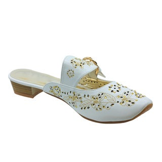 DimeCity Women's 'Lucie' Metallic Embroidered Slip-on Shoes