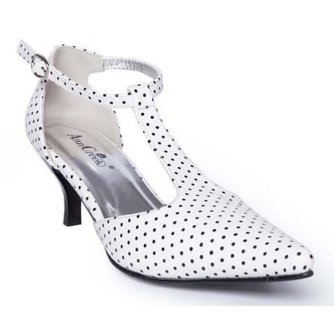 45292c4b3c0 Ann Creek Women s  Retro Vivian  Polka-dot Pointed Toe Heels