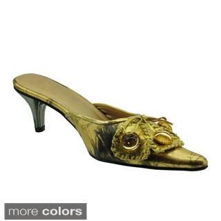 DimeCity Women's 'Menara' Metallic Embellished Slip-on Shoes
