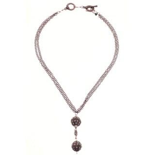 Copper 'Glamour' Rhinestone Necklace