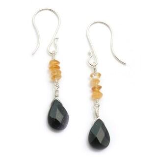Sterling Silver 'Three Sisters' Gemstone Earrings