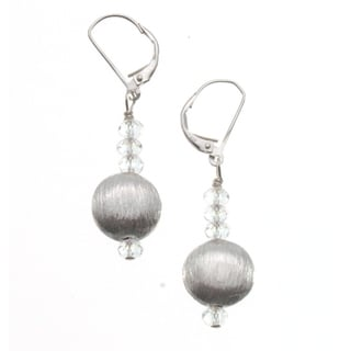 Sterling Silver 'Brilliance' Bead Earrings