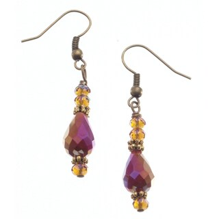 Brass 'Dramatic Effect' Crystal Earrings