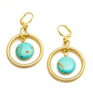 Goldfilled 'Golden Opportunity' Turquoise Howlite Earrings