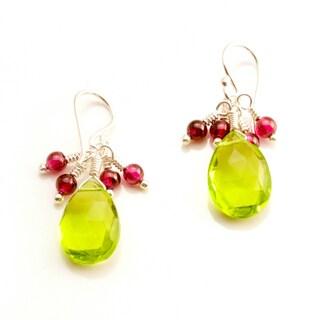 Sterling Silver 'Timeless' Gemstone Earrings