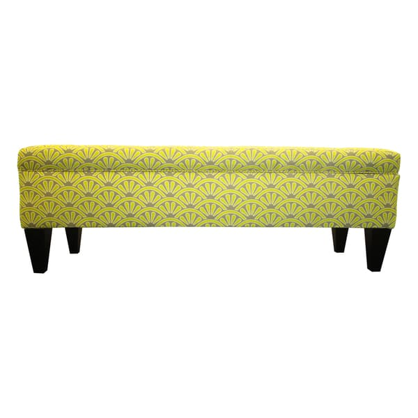 Enjoyable Shop Brooke Bonjour Designer 10 Button Tufted Storage Bench Theyellowbook Wood Chair Design Ideas Theyellowbookinfo