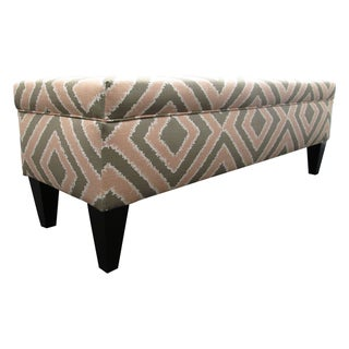 Brooke Nouvea Designer 10-button Tufted Storage Bench