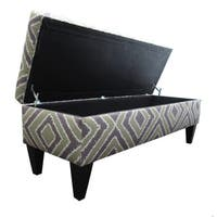 Brooke Nouvea Designer 10-button Tufted Storage Bench