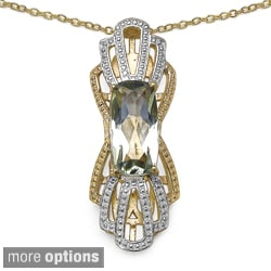 Marcel Drucker Gold over Silver Gemstone and Diamond Accent Necklace