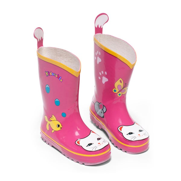 Kidorable Children's Pink Lucky Cat Rainboots