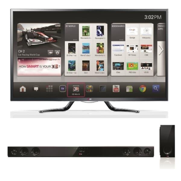 LG 55GA6400 55-inch 120HZ 3D Google TV with NB3530A Wireless Soundbar