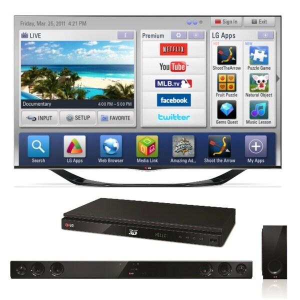 LG 55LA6900 55-inch 120hz Cinema 3D Smart LED Television with Wireless Soundbar/ Bluray Player
