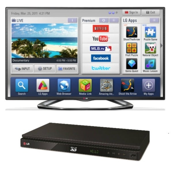 LG 55LA6200 55-inch Smart LED Television with BP530 Bluray Player