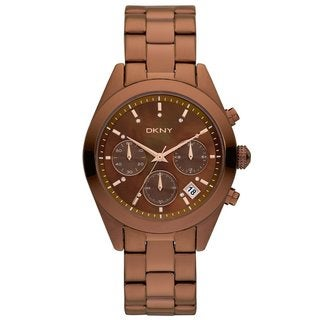 DKNY Women's Brown/ Rose-goldtone Watch