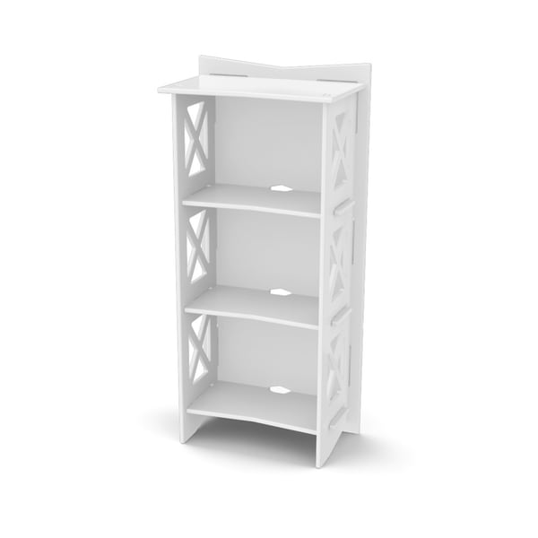 Legare Ivory 48-Inch x 22-Inch Bookcase