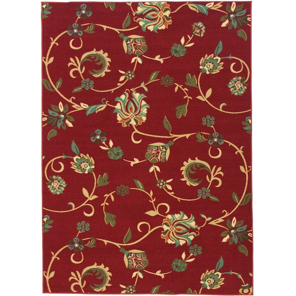 Shop Well Woven Oriental Swirls Non Skid Rubber Backing