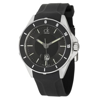 Calvin Klein Men's 'Play' Black Dial Stainless Steel Swiss Quartz Watch