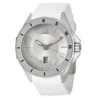 Calvin Klein Men's 'Play' White Stainless Steel Swiss Quartz Watch