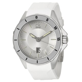 Calvin Klein Men's 'Play' White Stainless Steel Swiss Quartz Watch