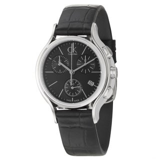 Calvin Klein Women's 'Skirt' Black Dial Swiss Quartz Watch