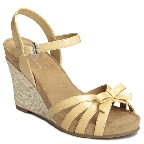 A2 by Aerosoles Women's Yellow 'Ivyplush' Wedge Sandals