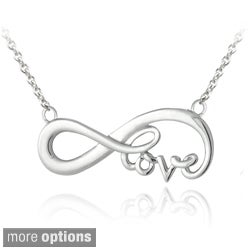 Mondevio Sterling Silver Infinity Love Necklace (Option: Gold)
