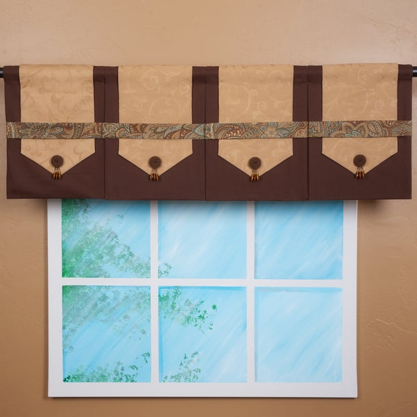 Design Your Valance Brown 4-panel