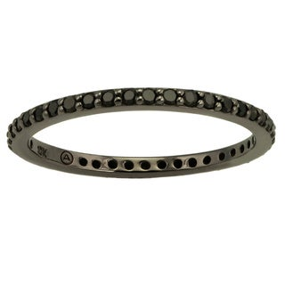 10k Black Gold 1/3ct TDW Black Diamond Eternity Band Ring (5 options available)