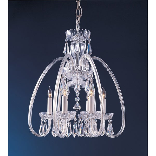 Crystorama Traditional 6-light Chandelier in Chrome Finish