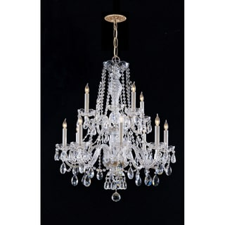 Crystorama Maria Theresa 12-light Chandelier in Brass