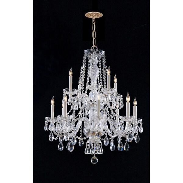 Crystorama Maria Theresa 12-light Chandelier in Brass