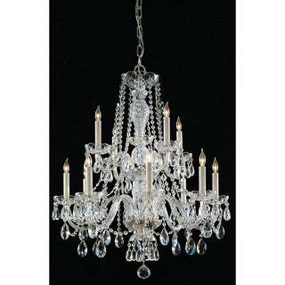 Crystorama Maria Theresa Collection 12-light Chrome Chandelier